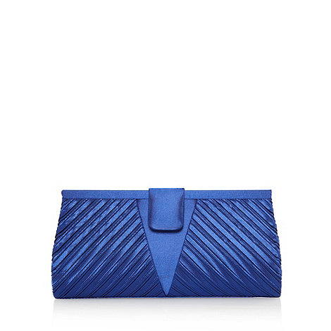 Debut - Blue pleated clutch bag
