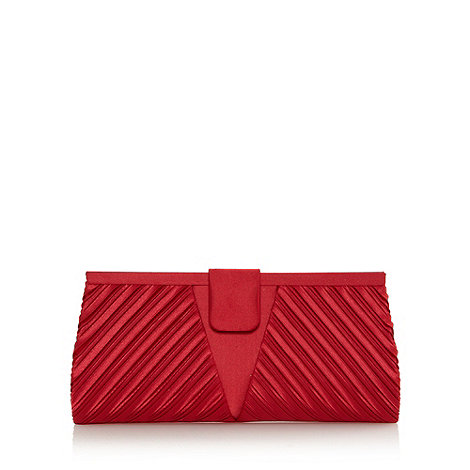 Debut - Red pleated clutch bag
