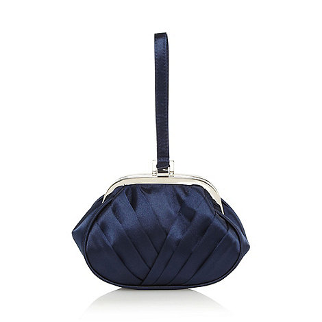 Debut - Navy fan pleated wristlet bag