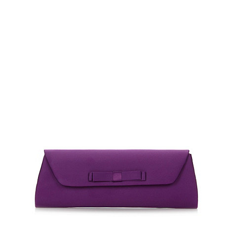 Debut - Purple mini bow satin clutch bag