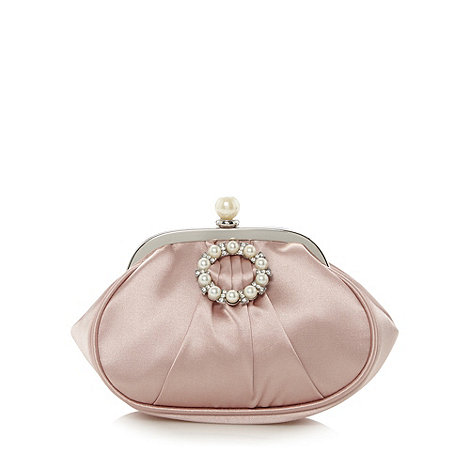Debut - Light pink crystal embellished clasp pouch