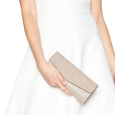 Debut - Gold glittery clutch bag