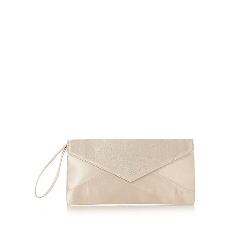 Debut - Gold scattered stone envelope clutch bag