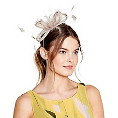 J by Jasper Conran - Beige 'Amy' feather bow fascinator