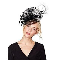 J by Jasper Conran - Black windowpane fascinator headband