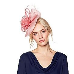 J by Jasper Conran - Pink 'Camelia' wave fascinator headband