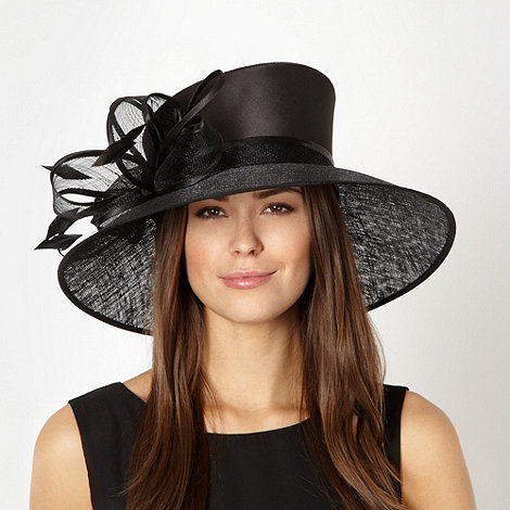 Hatbox - Black asymmetric bow hat