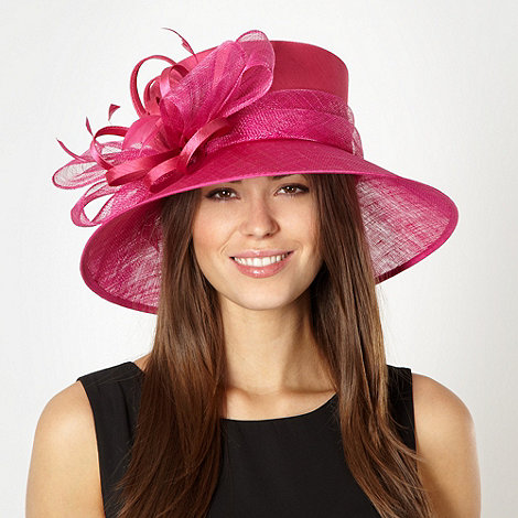 Hatbox - Cerise looped bow hat