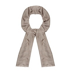 J by Jasper Conran - Designer grey woven linen blend scarf