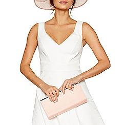 Debut - Pink zip top clutch bag