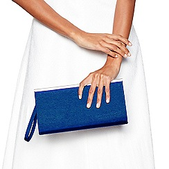 Debut - Blue zip top clutch bag