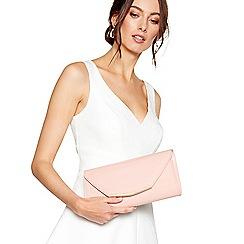 Debut - Pink patent clutch bag