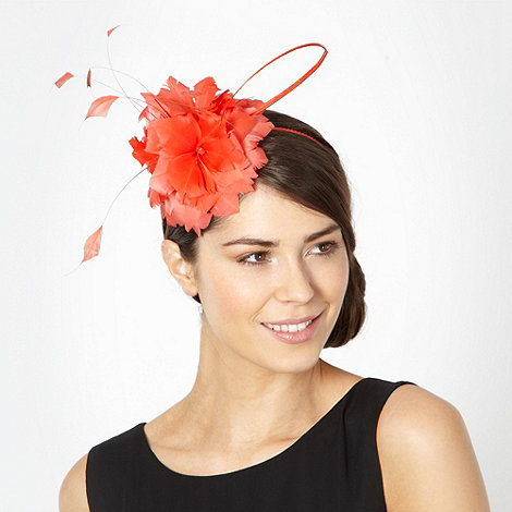 J by Jasper Conran - Designer orange feather corsage headband