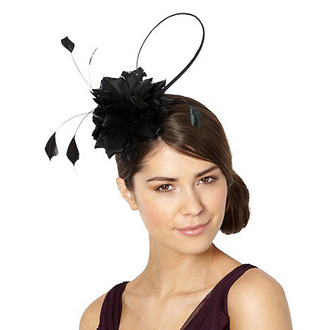 J by Jasper Conran - Designer black feather corsage headband