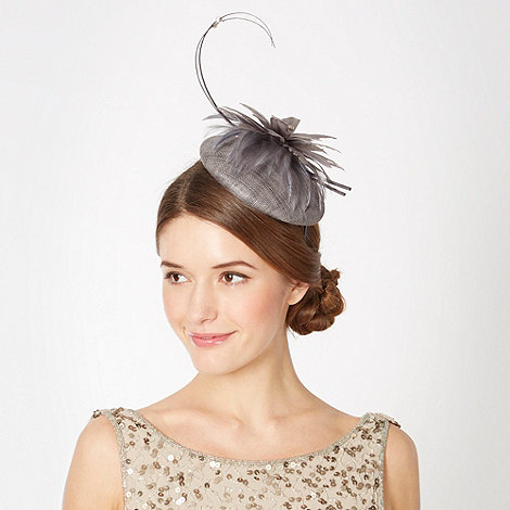 J by Jasper Conran - Designer grey weave feather bead fascinator