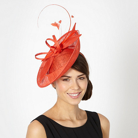 J by Jasper Conran - Designer orange bow dipped saucer fascinator