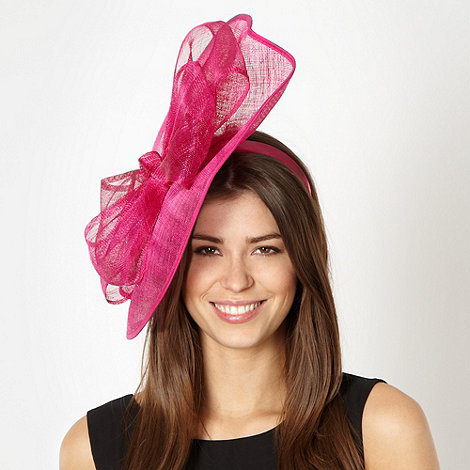 Star by Julien Macdonald - Designer pink mesh wave bow fascinator