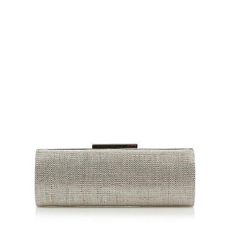 J by Jasper Conran - Designer silver foil raffia hard case clutch
