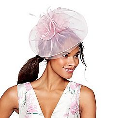 Debut - Light pink organza fascinator