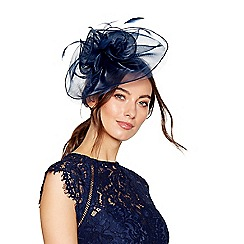 Debut - Navy organza fascinator