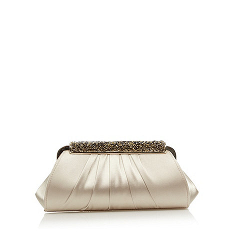 J by Jasper Conran - Designer gold satin embellished clutch bag
