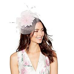 Debut - Light pink feather flower fascinator