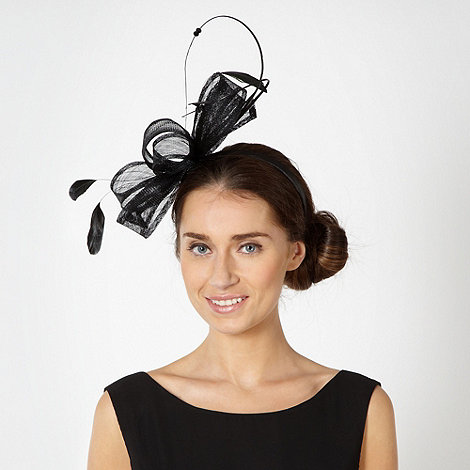 Star by Julien Macdonald - Designer black double quill bow headband