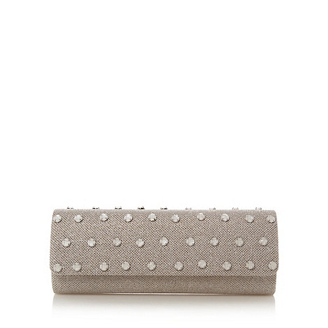 Star by Julien Macdonald - Designer cream metallic stone front clutch bag