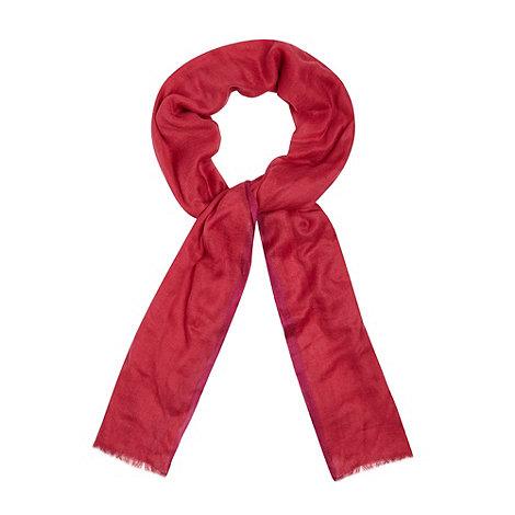 Star by Julien Macdonald - Designer bright pink coloured edge scarf
