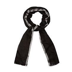 Star by Julien Macdonald - Designer black coloured edge scarf