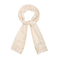Star by Julien Macdonald - Designer cream coloured edge scarf