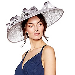 No. 1 Jenny Packham - Grey embellished loop downbrim fascinator