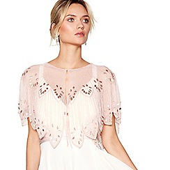 No. 1 Jenny Packham - Pink bead embellished scalloped shrug