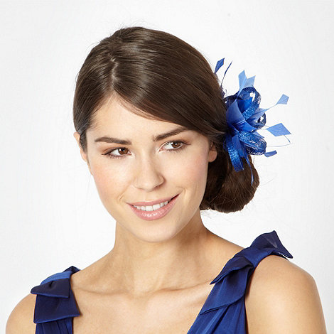 Principles by Ben de Lisi - Designer bright blue feather loop hair clip