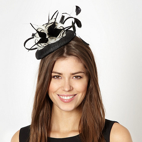 Principles by Ben de Lisi - Designer black feather flower fascinator