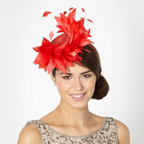 Principles by Ben de Lisi - Designer dark orange swirl floral hair piece