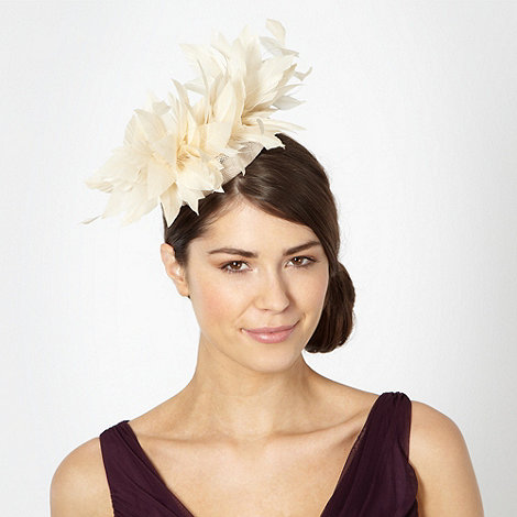 Principles by Ben de Lisi - Designer natural swirl feather fascinator