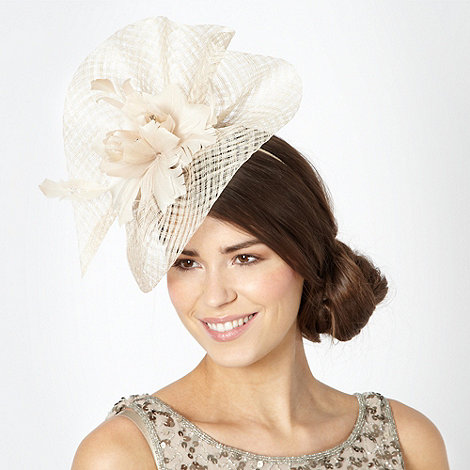 Principles by Ben de Lisi - Designer natural ruffled feather corsage fascinator