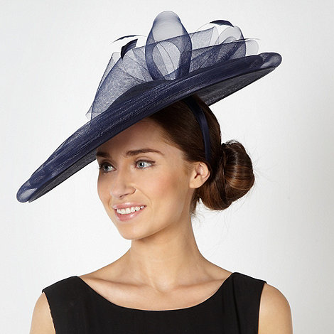 Principles by Ben de Lisi - Designer navy bow saucer fascinator