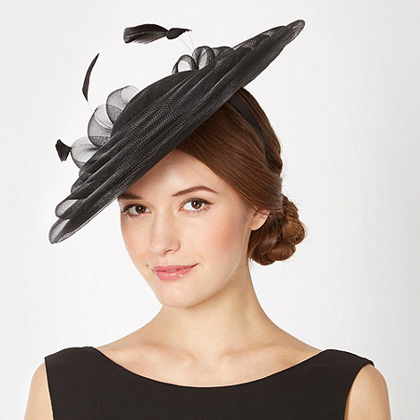 Principles by Ben de Lisi - Designer black bow mini saucer fascinator