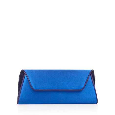 Principles by Ben de Lisi - Designer bright blue contrast piped clutch bag