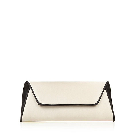 Principles by Ben de Lisi - Designer natural contrast piped clutch bag