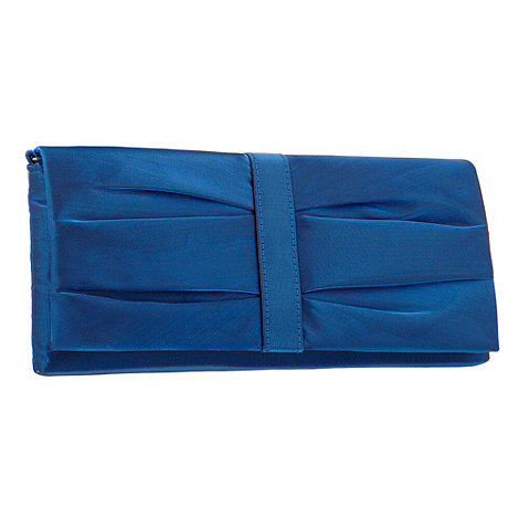 Debut - Midnight blue organza clutch bag