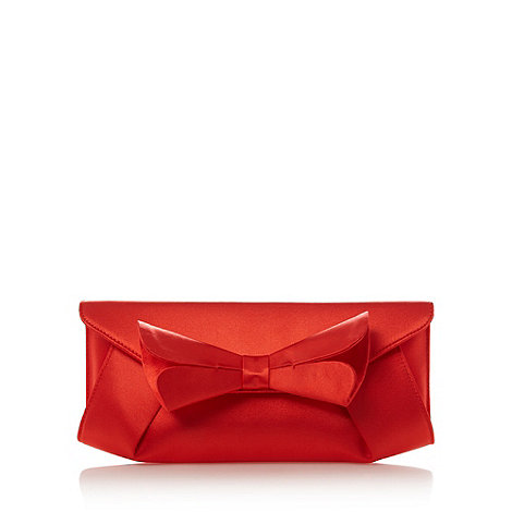 Principles by Ben de Lisi - Designer dark orange split bow clutch bag