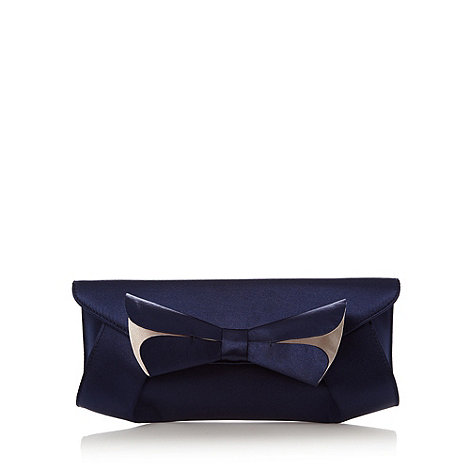 Principles by Ben de Lisi - Designer navy split bow clutch bag