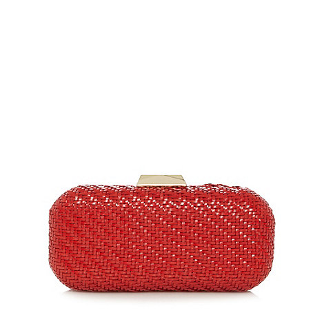 Principles by Ben de Lisi - Designer red woven clutch bag