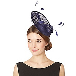 Debut - Navy small saucer bow hair piece