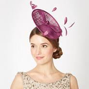 Purple small saucer bow fascinator