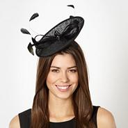 Black small saucer fascinator