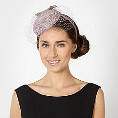 Debut - Lilac rose button top veil headband